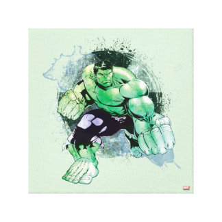 Avengers Hulk Watercolor Graphic Canvas Print