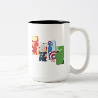 Avengers Iconic Graphic Two-Tone Coffee Mug