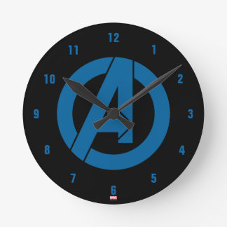 Avengers Logo Round Clock