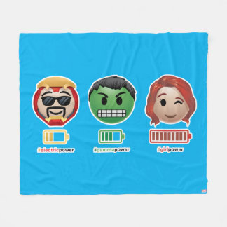 Avengers Power Emoji Fleece Blanket