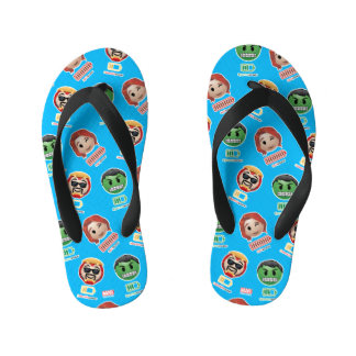 Avengers Power Emoji Kid's Flip Flops