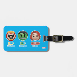 Avengers Power Emoji Luggage Tag