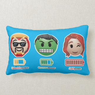 Avengers Power Emoji Lumbar Pillow