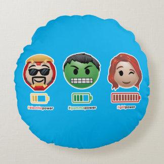 Avengers Power Emoji Round Pillow