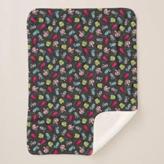 Avengers Simple Line Art Toss Pattern Sherpa Blanket