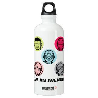 Avengers Stylized Line Art Icons Pattern