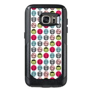 Avengers Stylized Line Art Icons Pattern OtterBox Samsung Galaxy S7 Case