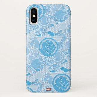 Avengers Symbols Pattern iPhone X Case