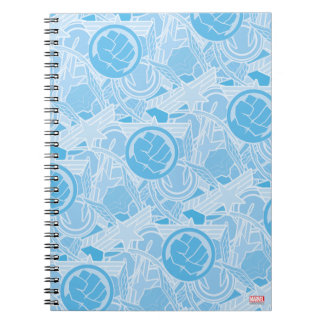 Avengers Symbols Pattern Spiral Note Books