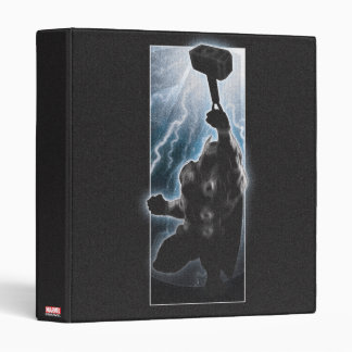 Avengers Thor Character Silhouette 3 Ring Binders
