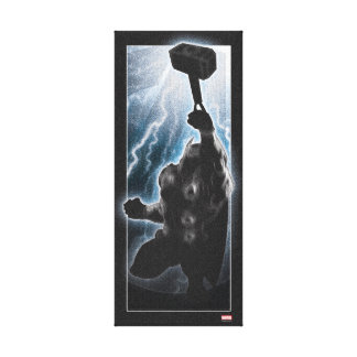Avengers Thor Character Silhouette Canvas Print