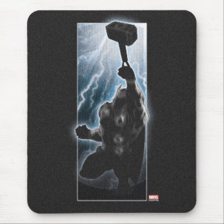 Avengers Thor Character Silhouette Mouse Pad