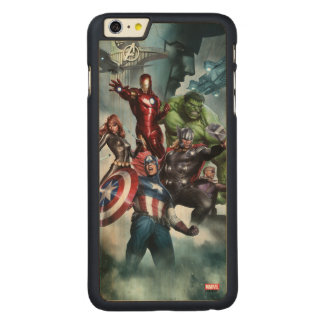Avengers Versus Loki Drawing Carved® Maple iPhone 6 Plus Case