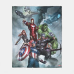 Avengers Versus Loki Drawing Fleece Blanket
