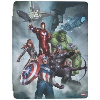 Avengers Versus Loki Drawing iPad Cover