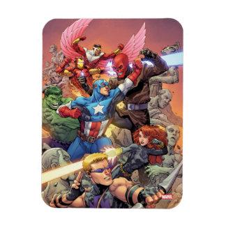 Avengers Versus Red Skull Rectangular Photo Magnet