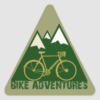 aventure de recyclage - vélos sticker triangulaire