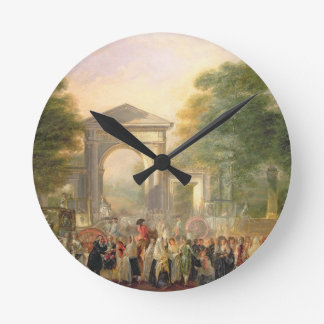 Avenue before the Botanical Gardens in Madrid, 178 Wall Clock
