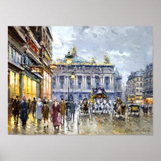 Avenue de l'Opera by Antoine Blanchard Poster