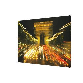 Avenue des Champs-Elysees Arch of Triumph Stretched Canvas Prints