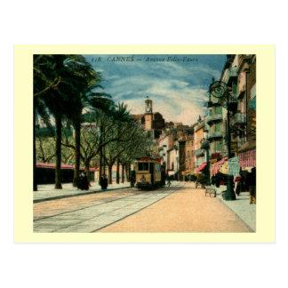 Avenue Felix-Faure, Cannes, France Vintage Postcard
