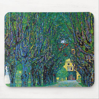 Avenue in schloss kammer park art by Gustav Klimt Mouse Pad