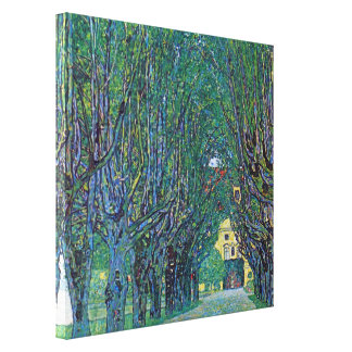 Avenue In Schloss Kammer Park by Gustav Klimt Canvas Print