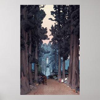 Avenue of Japanese Cedar Trees Repro. Art Poster