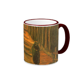 Avenue of Poplars in Autumn by Vincent van Gogh Ringer Coffee Mug