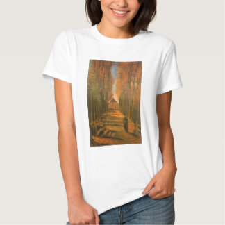 Avenue of Poplars in Autumn by Vincent van Gogh T-shirts