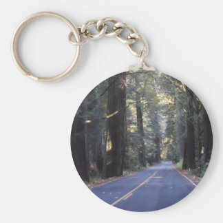 Avenue of the Giants- Humboldt Redwoods State Park Basic Round Button Keychain