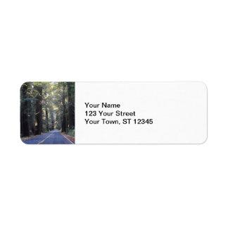 Avenue of the Giants- Humboldt Redwoods State Park Return Address Label