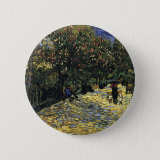 Avenue with Chestnut Trees at Arles - Van Gogh 2 Inch Round Button