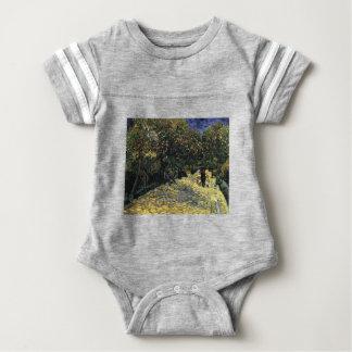 Avenue with Chestnut Trees at Arles - Van Gogh Baby Bodysuit
