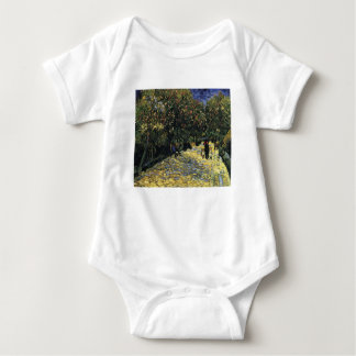 Avenue with Chestnut Trees at Arles - Van Gogh Baby Bodysuit