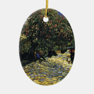 Avenue with Chestnut Trees at Arles - Van Gogh Ceramic Ornament
