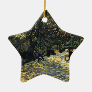 Avenue with Chestnut Trees at Arles - Van Gogh Ceramic Star Ornament