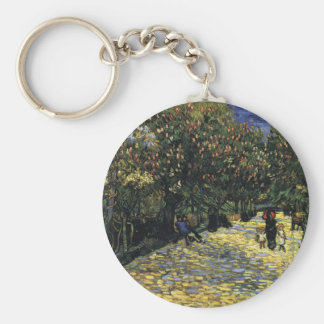Avenue with Chestnut Trees at Arles - Van Gogh Keychain