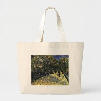 Avenue with Chestnut Trees at Arles - Van Gogh Large Tote Bag