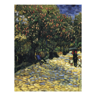 Avenue with Chestnut Trees at Arles - Van Gogh Letterhead