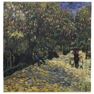 Avenue with Chestnut Trees at Arles - Van Gogh Napkin