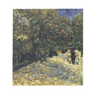 Avenue with Chestnut Trees at Arles - Van Gogh Notepad