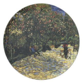Avenue with Chestnut Trees at Arles - Van Gogh Plate