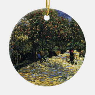 Avenue with Chestnut Trees at Arles - Van Gogh Round Ceramic Ornament