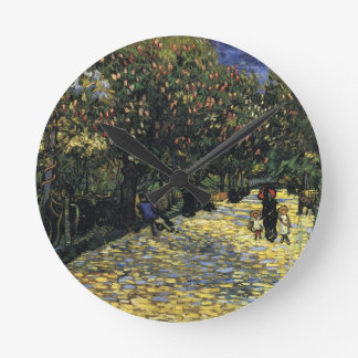 Avenue with Chestnut Trees at Arles - Van Gogh Round Clock