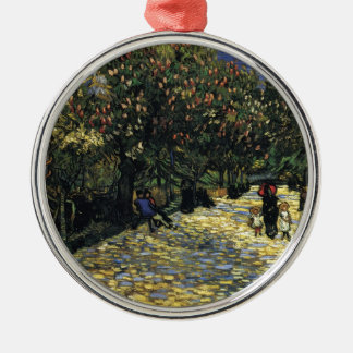 Avenue with Chestnut Trees at Arles - Van Gogh Silver-Colored Round Ornament