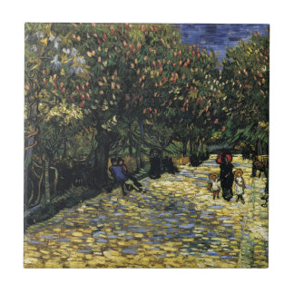 Avenue with Chestnut Trees at Arles - Van Gogh Tile