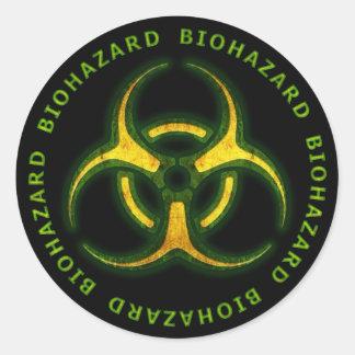 Avertissement de zombi de Biohazard Sticker Rond