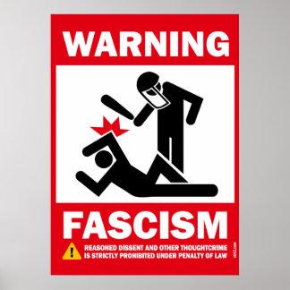 Avertissement : Fascisme Posters