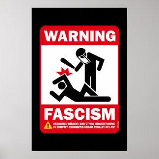 Avertissement : Fascisme Poster